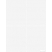 4up Blank Perforated Paper